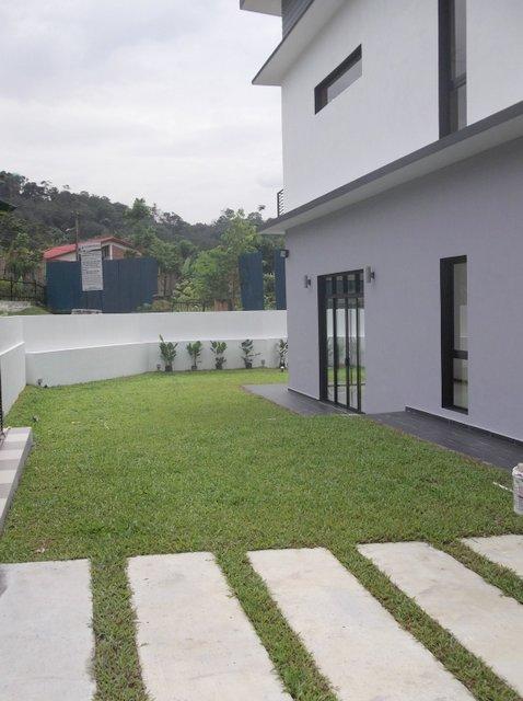 beautiful lawn area